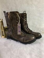 Seven7 Mr. Zipper Women's Combat Boot Size 10 Bronze