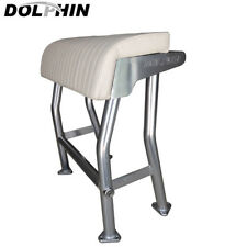 Dolphin T Top Leaning Post Boat Seat  Marine Grade White Cushion