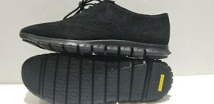 New Women's 7.5 - Cole Haan - ZeroGrand Wingtip - Black Suede