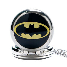 Special With Mini Mirror inside Silver Pocket Watch Pendant Cool Batman Necklace