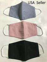 3 layers cotton and muslin fabric Face Mask Reusable Washable Fashion Clothing