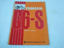 YAMAHA G6-S OEM ORIGINAL SERVICE REPAIR MANUAL COLORED WIRING DIAGRAM G6S