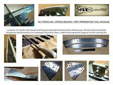 Luthier Tool - GUITAR NUT PROFILING, STRING SPACING, FRET PREP TOOL PACKAGE
