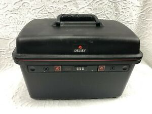 Delsey Black Vanity Train Case with Combination Lock (missing tray)