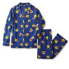 MENS - NWT Joe Boxer Men's Flannel Pajamas, PJs, Emoji Santa Claus, Christmas