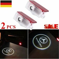 2x LED Einstieglicht Mercedes Stern mit Kreis Logo Türlicht C-Klasse W204 S ☀AYU