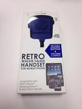 NEW RETRO WALKIE - TALKIE HANDSET FOR MOBILE PHONE. iPHONE, iPAD, SAMSUNG GALAXY