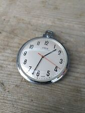 Vintage 1960's Large ORIS Anti-Shock Pocket Watch Champagne Dial Near Mint Deco