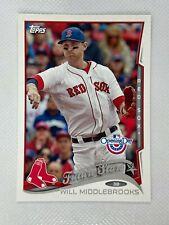 Will Middlebrooks Boston Red Sox 2014 Topps Baseball Card 75