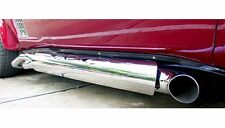 "Exhaust Shields (2), Top Flame style,  4"" Tube Side, Stainless Steel"