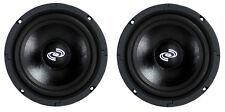 2) Pyle Pro 8 Inch 360 Watt 8-Ohm Black Driver Mid Range Audio Speakers   PDMR8