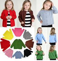 Autumn Baby Girls Kids Children Sweater Cardigan Top Shirt Outerwear Clothes