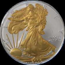 2006 American 1oz Fine Silver Gold Liberty Eagle $1 One Dollar Coin