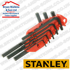 Stanley Hexagon Allen Key Set of 8 Metric (1.5-6mm) High Tensile steel FREE Case