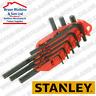 Stanley Hexagon Allen Key Set of 8 Metric (1.5-6mm) High Tensile steel FREE Case