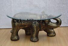 Tisch Elefant Figur Glas Couchtisch Beistelltisch Tischfuß Skulptur Deko SG