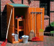 Geräteschrank klein - Gartenhaus - Gerätehaus B78XT78XH164cm Holz honig-braun