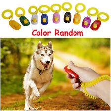 Random Puppy PVC Plastic Elasticity Pet Training Dog Whistle Button Wristband