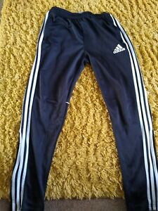 Adidas Joggers 13-14 Years Black Track Pants Tracksuit Bottoms Climalite Boys