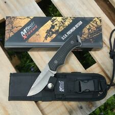 Mtech Xtreme Fixed Blade Full Tang Tactical Knife G10 Handle w/ Molle Sheath