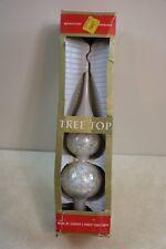 Vintage Mid Century Hand Blown Mercury Glass Tree Top Topper Czechoslovakia