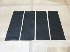 """Black 100% Yarwood leather 9"""" x 3"""" Quality X4 offcuts 1.1mm Crafts Patch Repair"""