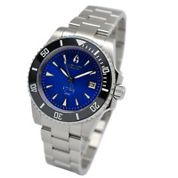 Aquacy 1769 Hei Matau Men's Automatic 300M Blue MOP Diver Watch ETA SWISS 2824