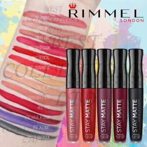 RIMMEL STAY MATTE LIQUID LIPSTICK LIP COLOUR - CHOOSE YOUR SHADE