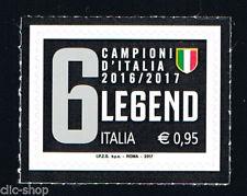 ITALIA 1 FRANCOBOLLO CAMPIONI D'ITALIA JUVENTUS LEGEND 2017 nuovo**