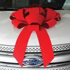 """30"""" Red Velvet Giant Car Bow"""