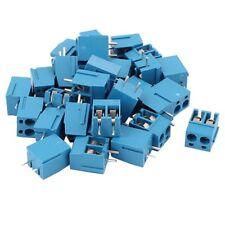 30Pcs 2 Way 2P PCB Mount Screw Terminal Block Connector 5.08mm Pitch Blue R8T1