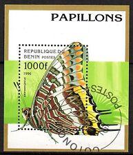 0090+ TIMBRE BENIN  BLOC  PAPILLONS    1995