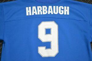 Vintage (Jim) Harbaugh Detroit Lions #9 Jersey Youth Size L Boys 18/20