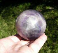 Fluorite  Crystal Quartz  Natural Purple  Green Sphere  316g