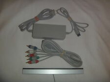 Official Nintendo Wii Power Supply Ac Adapter + Sensor Bar + Component Cables