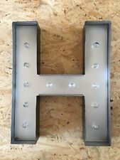 Light Up Black And Silver Letter H