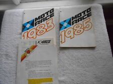 MOTO RACE PARTS ACCESSORIES & CLOTHING CATALOG w/PRICE LIST LOT OF 2-1983-1985