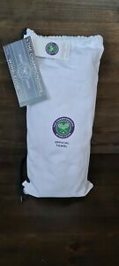 Wimbledon Official 2020 Green and purple  unused championship towel with bag