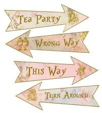 Arrows Alice in Wonderland Mad Hatter 4 arrows tea party shower party decor