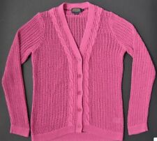 Pendleton Womens Sweater Cardigan Dark Pink COTTON BLEND SIZE MEDIUM china