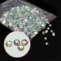 1000X Set 14 Facets Resin Rhinestone Gem Flat Back Crystal DIY AB Beads 3mm Lot