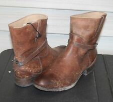 FRYE LINDSEY PLATE SHORT US 7 Woman's Ankle Boot Cognac Stone Wash