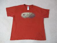 Columbia Shirt Adult Extra Large Orange Brown Outdoors Fisherman Hunter Mens *