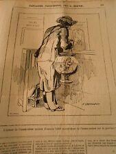 Caricature 1873 - L'auteur de l'Homme Femme anxieux L'Homme Poisson