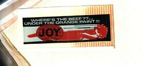 1  NICE  JOY  COAL MINING STICKERS # 843