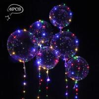 6PCs 18'' LED Balloon Luminous Light Up Glow Wedding Birthday Xmas Party Lights