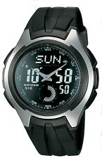Casio Men's Stainless Steel Watch with Black Band AQ160W-1BV