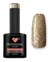 RBBJ-004 VB™ Line Rainbow Gold Glitter - UV/LED soak off gel nail polish