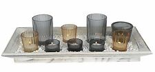 Tealight Candle Gift Set on Tray Shabby Chic Style