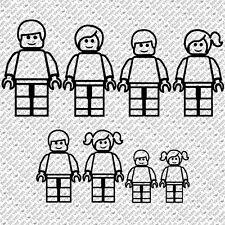 LEGO MOVIE MEGA BLOCK FAMILY INDIVIDUAL FIGURES VINYL STICKERS DECAL (LFS-01)